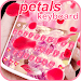 Download Pink Cute Flower Rose Red Petals Keyboard Theme 10001005 APK
