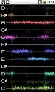 screenshot of PitchLab Guitar Tuner (LITE) version 1.0.22