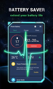 screenshot of Power Battery - Battery Life Saver & Health Test version 1.9.7.4