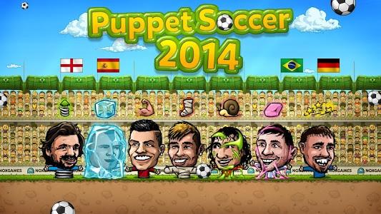 screenshot of ⚽Puppet Soccer 2014 - Big Head Football ? version 1.0.128