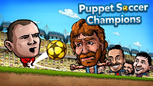 screenshot of Puppet Soccer Champions 2014 version 1.0.37
