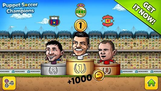 screenshot of Puppet Soccer Champions 2014 version 1.0.40