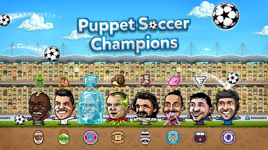 screenshot of Puppet Soccer Champions - 2014 version 1.0.14