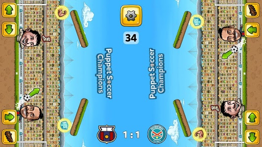 screenshot of Puppet Soccer Champions - 2014 version 1.0.19