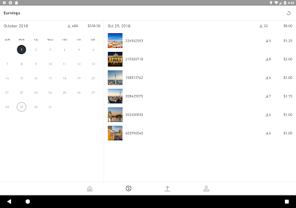 screenshot of Shutterstock Contributor version Varies with device