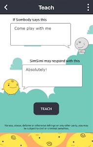 screenshot of SimSimi version 6.7.2.3
