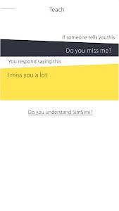 screenshot of SimSimi version 6.8.6.5