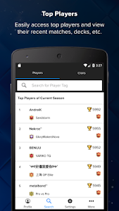 screenshot of Stats Royale for Clash Royale version 2.0.0