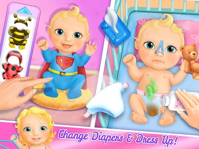 screenshot of Sweet Baby Girl Doll House - Play, Care & Bed Time version 2.0.12