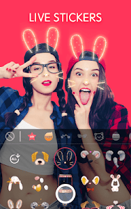 screenshot of Sweet Snap Lite - live filter, Selfie photo editor version 3.2.240