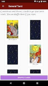 screenshot of Tarot Card Reading version 1.0.1