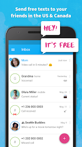 screenshot of Text Me - Free Texting & Calls version Varies with device