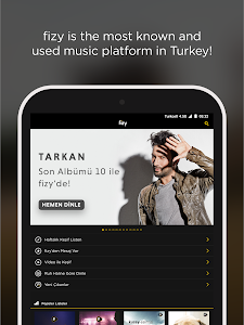 screenshot of fizy – Music & Video version Varies with device