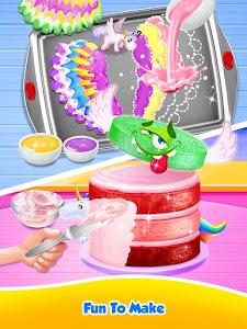 screenshot of Unicorn Food - Sweet Rainbow Cake Desserts Bakery version 1.9