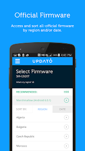 screenshot of Updates for Samsung & Android version Varies with device
