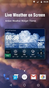 screenshot of free live weather on screen version 15.1.0.45420