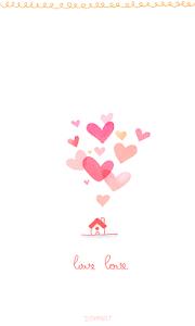 screenshot of lovelove go sms theme version 1.0